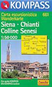 mappa 661 Siena, Chianti, Colline Senesi