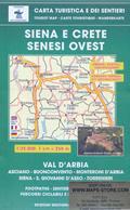 mappa n.517 Siena e Crete Senesi con Val d' Arbia, Murlo, Monteroni d'Arbia, Asciano, Buonconvento, Rapolano Terme