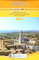 mappa Siena di città con dettaglio del storico 2019