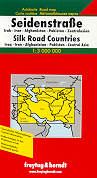 mappa stradale Silk Road Countries  - Iraq/Irak, Iran, Afghanistan, Pakistan, Centro Asia