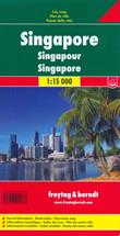 mappa Singapore città con indice strade, linee e fermate metropolitana