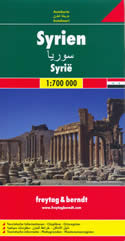 mappa Siria / Syria con Damasco, Aleppo, Homs, Hama, Latakia, Deir el Zor, al Raqqa, Bab, Idlib, Dumā, Safīra, Salamiyya, Aswad