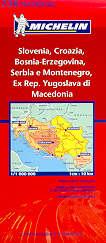 mappa stradale 736 - Slovenia, Croazia, Bosnia-Erzegovina, Serbia e Montenegro, Ex Rep. Yugoslava di Macedonia