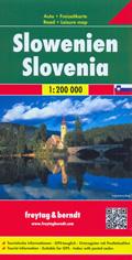 mappa Slovenia / Slowenien Slovenija con Lubiana, Maribor, Kranj, Capodistria, Celje, Novo Mesto, Domžale, Nova Gorica, Velenje, Slovenska Bistrica, Kamnik