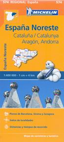 mappa stradale n.574 - Spagna - Aragon, Cataluna/Catalunya/Catalogna - nuova edizione