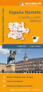 mappa n.575 Spagna Castilla y Leon, Madrid