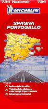 mappa n.734 Spagna e Portogallo con Isole Baleari Canarie