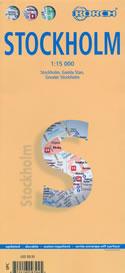 mappa Stoccolma / Stockholm con dettaglio del storico, Gamla Stan e