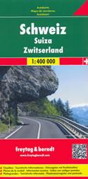 mappa stradale Svizzera - con Zurigo, Ginevra, Basilea, Losanna, Berna, Winterthur, Lucerna, San Gallo, Lugano, Bienna, St. Moritz, Locarno, Sion, Montreux - nuova edizione