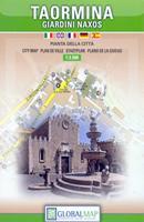 mappa Taormina di città con Castelmola, Giardini Naxos 2018