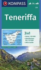 mappa topografica Tenerife (Isole Canarie) - mappa escursionistica - con sentieri, spiagge, percorsi panoramici - compatibile con sistemi GPS - edizione 2021