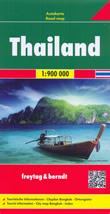 mappa stradale Thailand (Thailandia / Tailandia) - con Bangkok, Chiang Mai, Ubon Ratchathani, Phuket, Hat Yai, Ko Samui - mappa stradale con spiagge, parchi naturali e luoghi panoramici