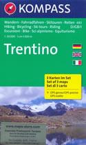 mappa topografica n.683 - Trentino - set di 3 mappe escursionistiche, compatibili con sistemi GPS