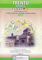 mappa Trento, Rovereto, Gardolo città, con dettaglio del storico e indice strade