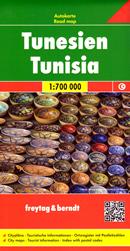 mappa Tunisia / Tunisie Tunisien stradale