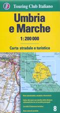 mappa Umbria e Marche stradale 2016