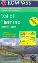 mappa n.79 Val di Fiemme, Latemar, Lagorai, Cavalese, Predazzo, S.Martino, Caldaro, Moena, San Martino Castrozza, Cima d'Asta compatibile con GPS + panoramica