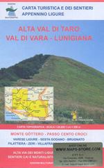 mappa n.10/12 Val di Vara e Lunigiana, Appennino Ligure con il passo Cento Croci, Varese Ligure, Zeri, Alta Taro, Monte Gottero