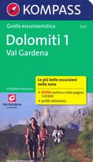 guida turistica n.5727 - Val Gardena (Dolomiti) - Gruppo delle Odle, Puez, Sella, Sassolungo, Alpe di Siusi - guida escursionistica con sentieri panoramici, mappe, informazioni pratiche, profili altimetrici e coordinate GPS