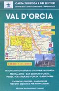 mappa N.515 Val d' Orcia con Montalcino, San Quirico, Pienza, Castiglione, Radicofani, Torrenieri