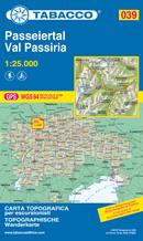 mappa n.039 Val Passiria / Passeiertal Racines, Passo Giovo, Valtina, Rombo, M. Principe, Altissima, S. Martino, Riobianco, Ridanna con reticolo UTM compatibile sistemi GPS