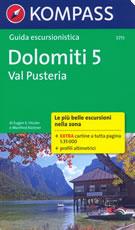 guida n.5711 Val Pusteria (Dolomiti) con sentieri panoramici, mappe, informazioni pratiche, profili altimetrici e coordinate GPS