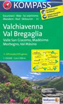 mappa n.92 Valchiavenna, Val Bregaglia, Madesimo, Masino, Passo Spluga, Novate Mezzola, Morbegno, Juf, Avers, del Maloggia, Valle San Giacomo plastificata, compatibile con sistemi GPS