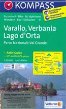 mappa n.97 Varallo, Verbania, Lago d'Orta, Parco Nazionale Val Grande, Domodossola, Villadossola, Malesco, Omegna, Maggiore, Arona, Borgomanero, Borgosesia, Grondo plastificata, compatibile con GPS 2014