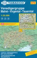mappa n.075 Venedigergruppe, Matrei, Virgental, Tauerntal compatibile con GPS 2020