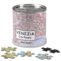 mappa Venezia City Puzzle di città in formato da 100 pezzi magnetici dimensione totale 26 x 35 cm