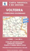 mappa n.513 Volterra dei sentieri, con siti archeologici e città di
