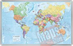 Planisfero Magnetico Mappa Murale del Mondo cartografia fisica politica dettagliatissima